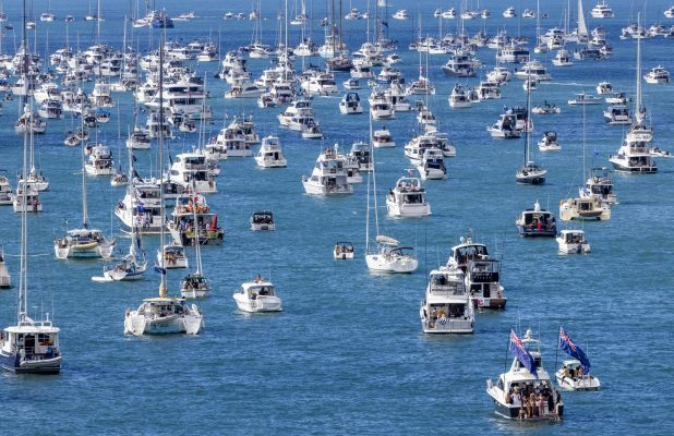 The spectator 'armada' for 36th America's Cup