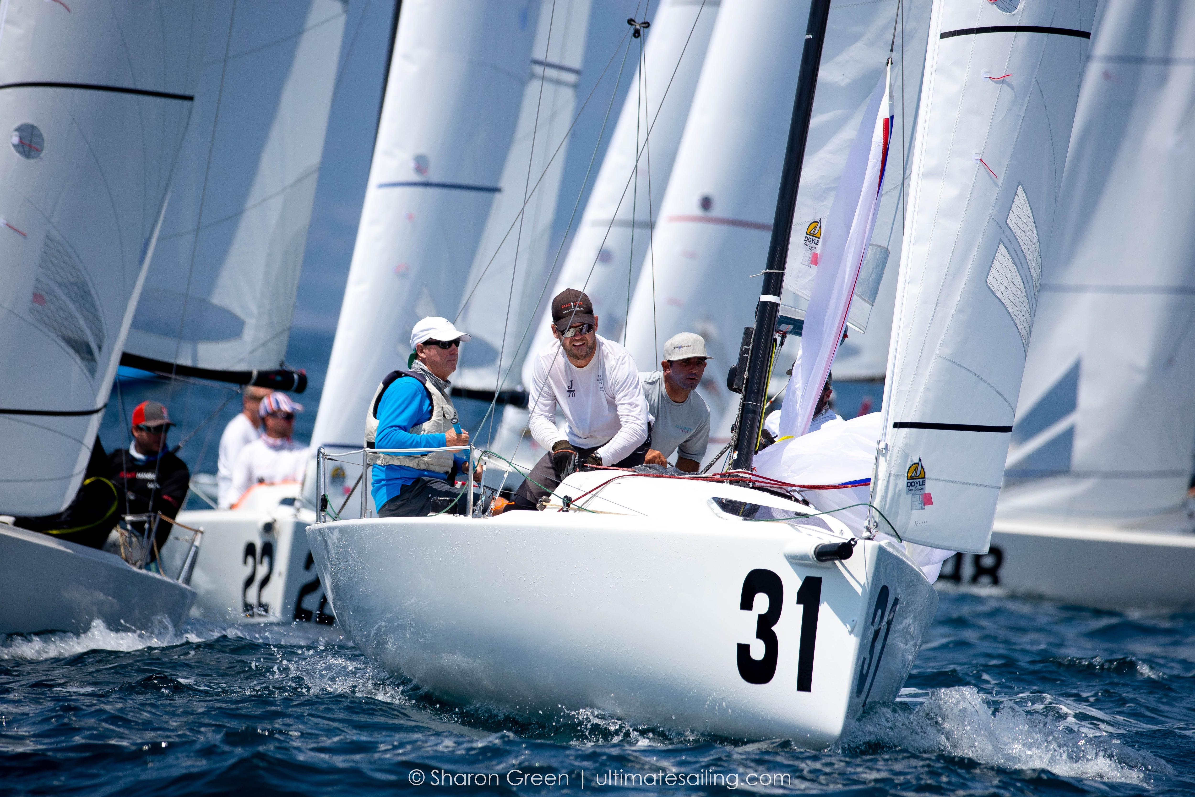 Peter Duncan's J/70 team on Relative Obscurity at the 2021 World Championships in Marina Del Rey.
