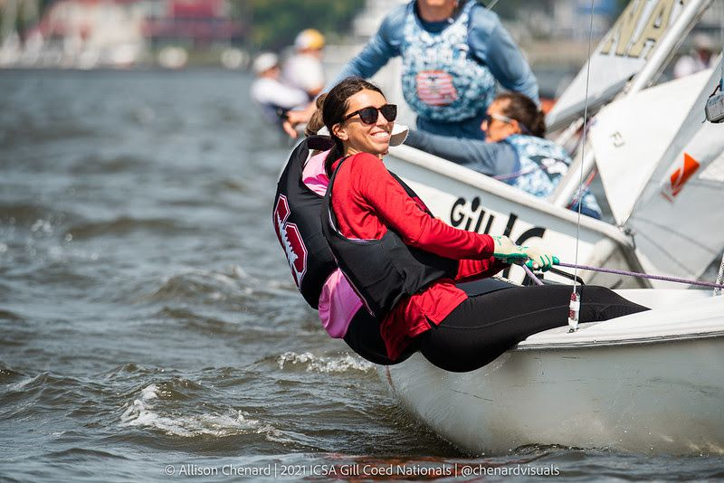Sailing for Stanford for its second-place Coed National win was: Telis Athanasopoulos Yogo '22 and Patricia Gerli '23 in A-division and Michelle Lahrkamp '23 and Sammy Pickell '22 in B-division.