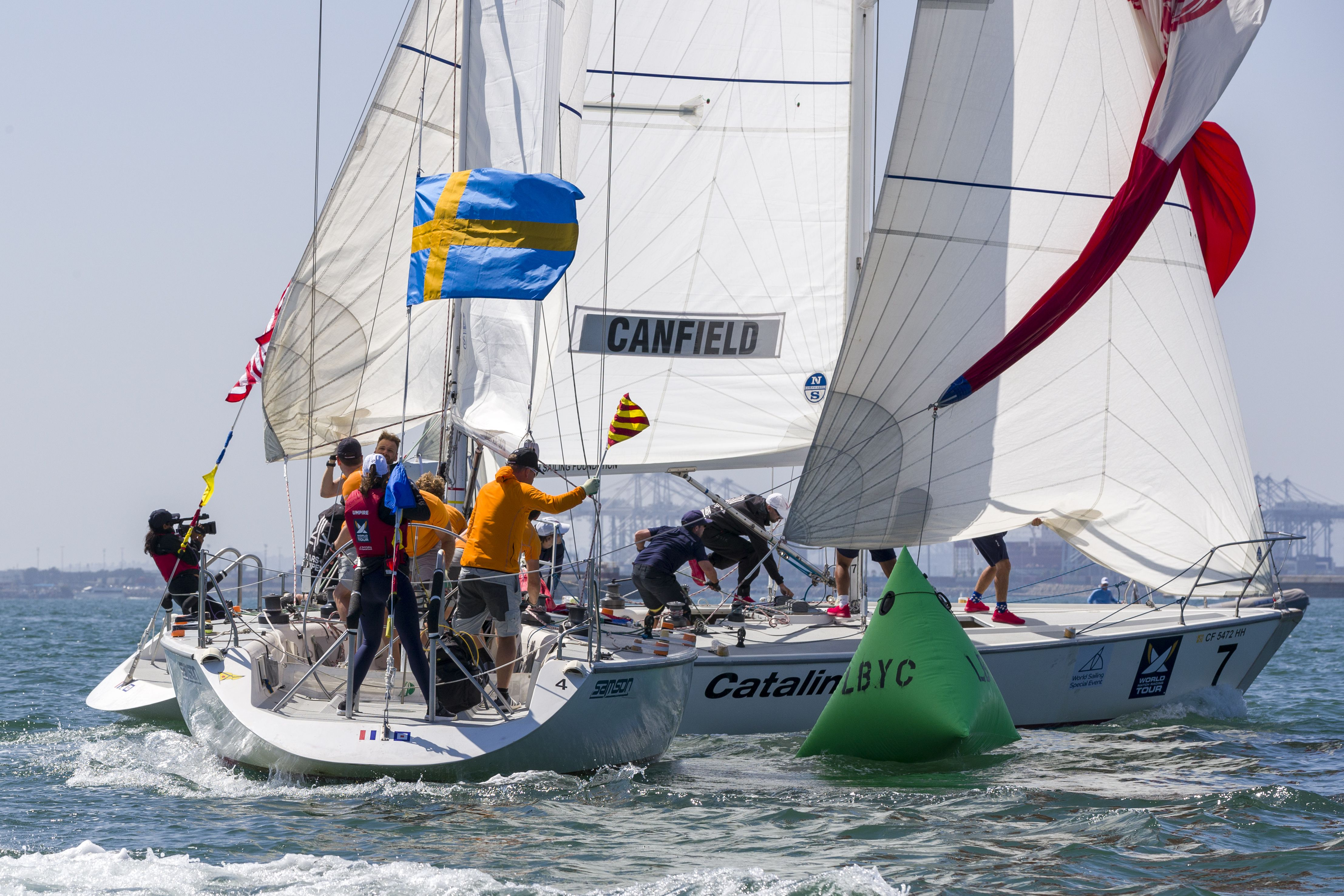 The Swedish squad led by skipper Johnie Berntsson, advanced to the finals but was swept in three races by Stars + Stripes, which got the better of the three starts.